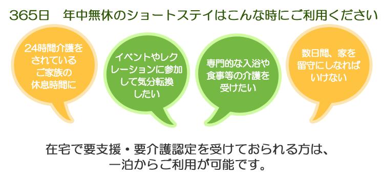 飯塚市で短期間の入所ならはくりゅう園ショートステイサービス